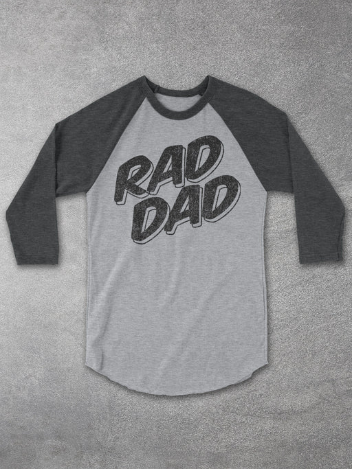 Birthday Shirts-RAD DAD Baseball Tee
