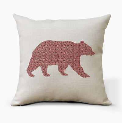 Geometric Bear Farmhouse Pillow