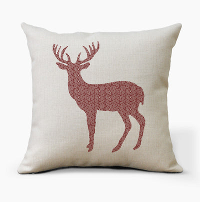 Geometric Deer Farmhouse Pillow