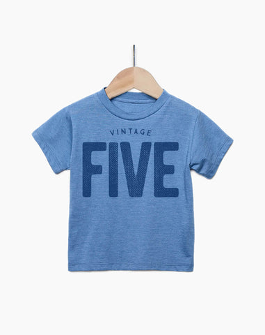 Vintage Five Year Old Boy - 5th Birthday Shirt