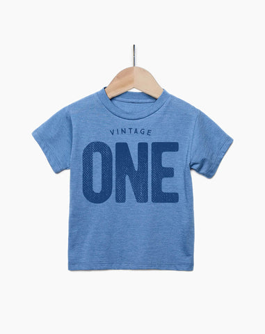 Vintage One Year Old Boy - 1st Birthday Shirt