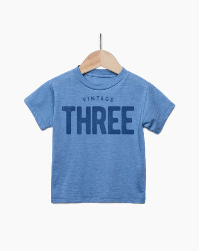 Vintage Three Year Old Boy - 3rd Birthday Shirt