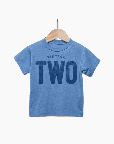Vintage Two Year Old Boy - 2nd Birthday Shirt