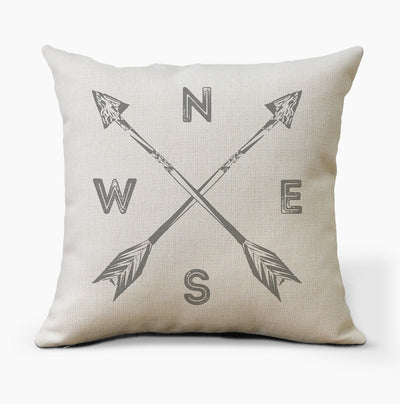 Tribal Arrows Compass Pillow