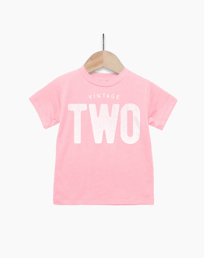 Vintage Two Year Old Girl - 2nd Birthday Shirt