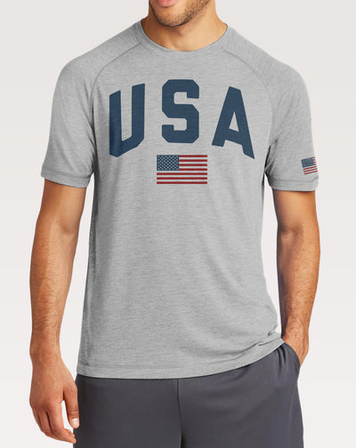 USA Men's American Flag Shirt