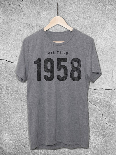 Vintage 1958 Birthday Shirt
