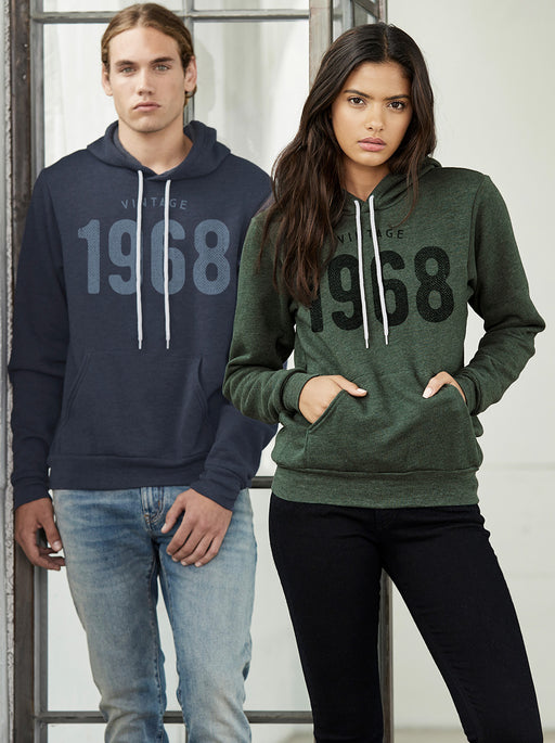 Birthday Shirts-Vintage 1968 Birthday Hoodie