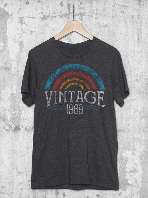 50th Birthday Vintage Rainbow T Shirt
