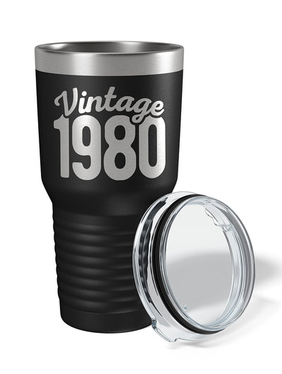 Vintage 1980 40th Birthday 30 oz. Drink Tumbler