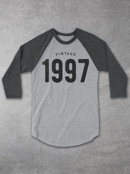 Birthday Shirts-Vintage 1997 Baseball Tee