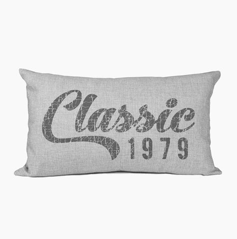 40th Birthday Pillow | Classic Year