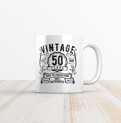 Vintage 50 Whiskey Label 50th Birthday Mug