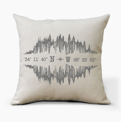 Personalized Pillow | Mountain Coordinates