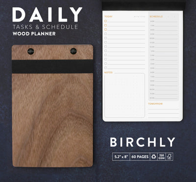 To-Do List Notepad | Birchly Wood Daily Checklist