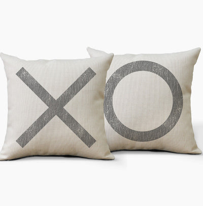XO Farmhouse Pillows