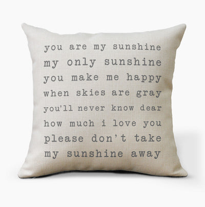 You Are My Sunshine Farmhouse Pillow