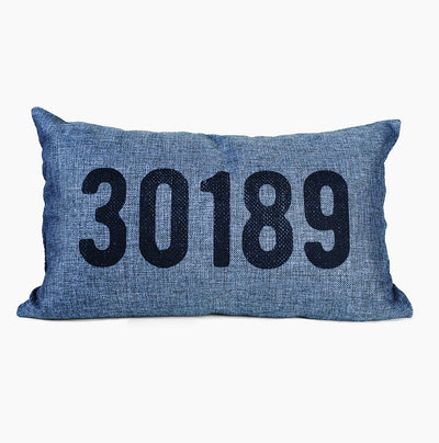 Zip Code Lumbar Pillow