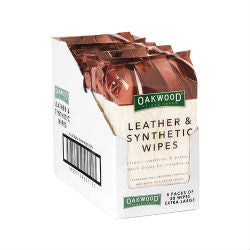 Oakwood Leather Wipes 20 pack