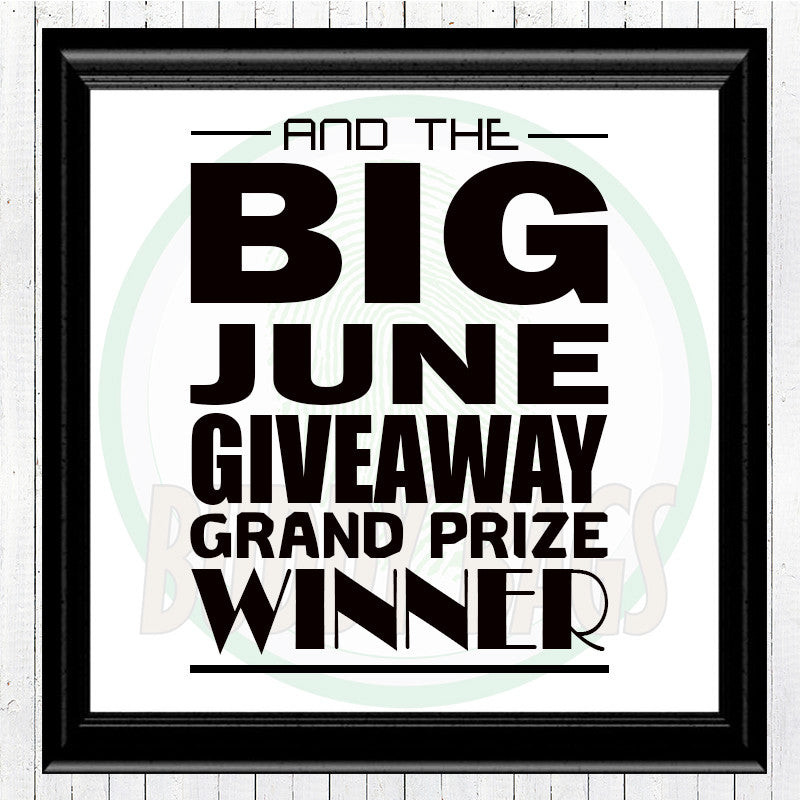 Giveaway Announcement - GRAND WINNER (06/30/2016)