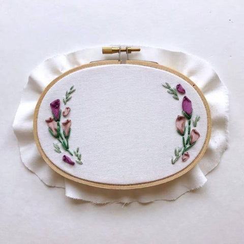Mini Oval Floral Hoop (Personalize Me!)