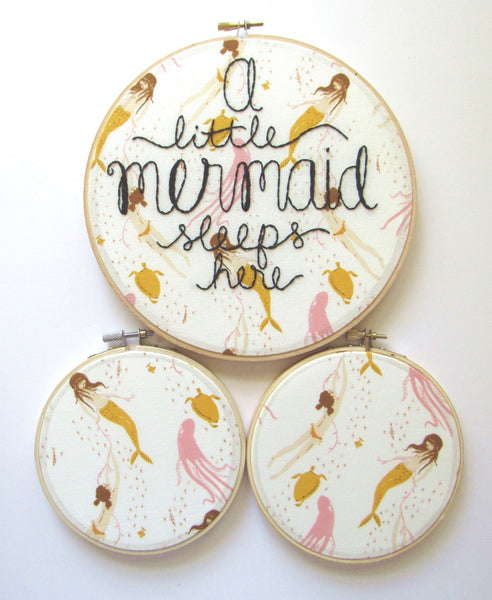 I Must Be A Mermaid - 9 Inch Mermaid Embroidery Hoop by KimArt Designs