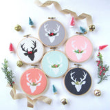Personalized Deer Ornament - Pick Your Colors