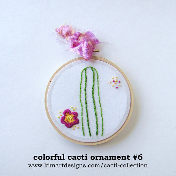 Colorful Cactus Ornament - Choose Your Color