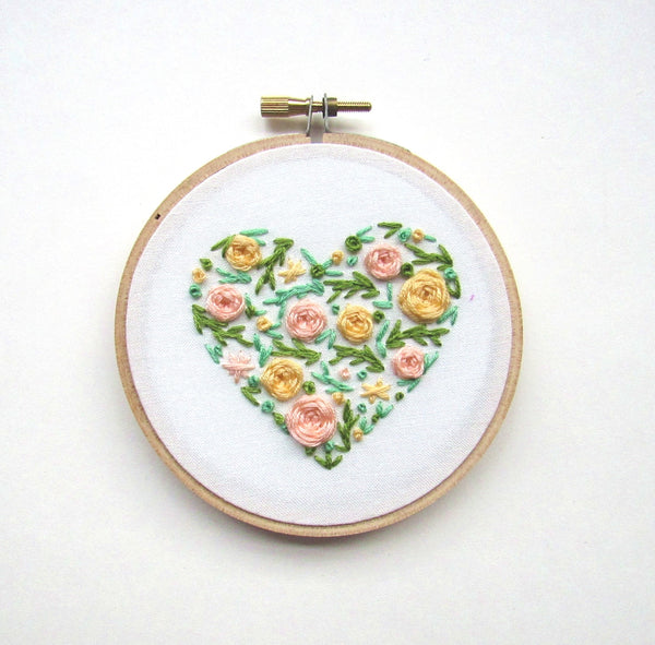 Garden Party Floral Heart - Last One