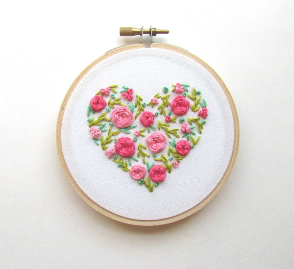 Sweet Pink Floral Heart