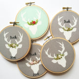 Gold, Sage, and Grey Deer Ornament