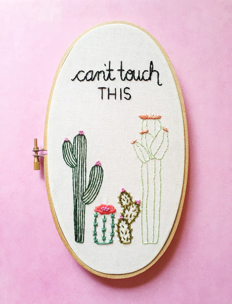 """Can't Touch This"" Punny Cacti - Pick Your Colors"