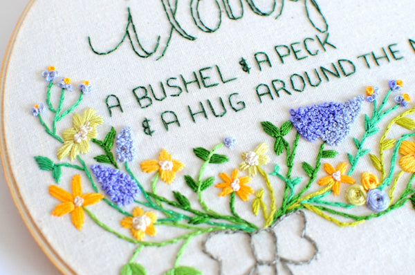 I Love You A Bushel and A Peck - Nursery Embroidery Hoop