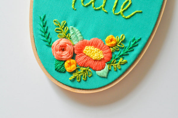 I Was Created to Create Embroidery Hoop