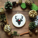 Black & White Deer Ornament