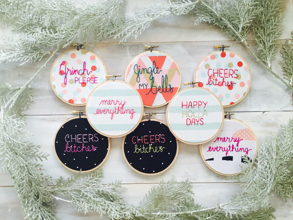 Cheers Bitches! Color Pop Holiday Ornament