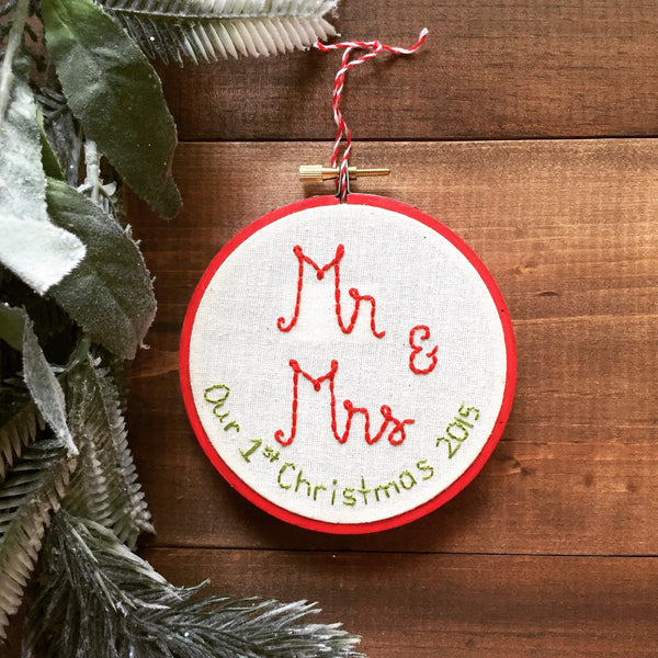 Mr & Mrs Our First Christmas 2016 Ornament