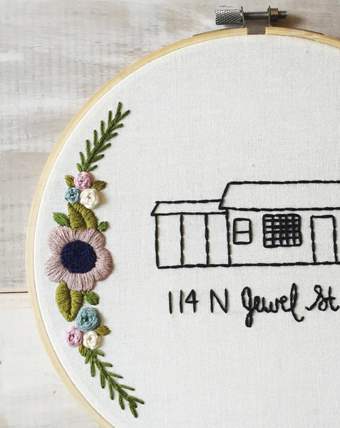 Custom Home and Address Embroidery - Made To Order