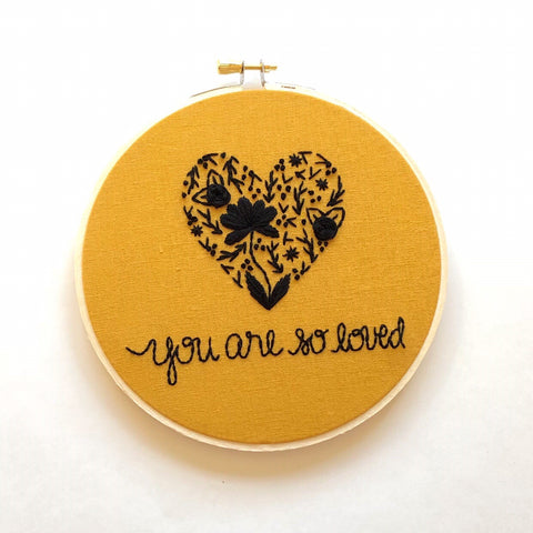 You Are So Loved - Black + Mustard