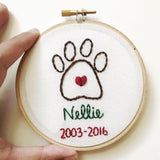 Personalized Pet Remembrance Ornament
