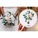 Round Bridal Bouquet Replica