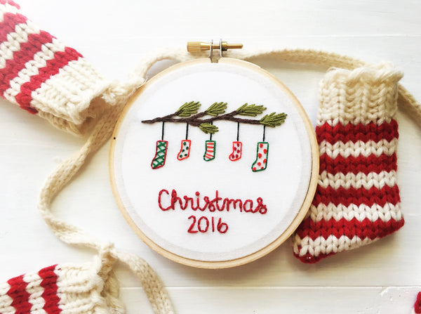 2016 Family Christmas Stockings Ornament