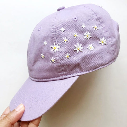 Lavender Daisy Hat