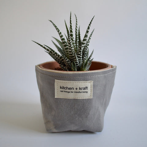 Large Grey Succulent Planter