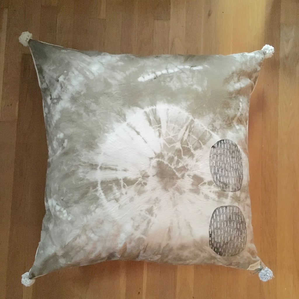 Onion Skin Naturally Dyed Meditation Pillow #2
