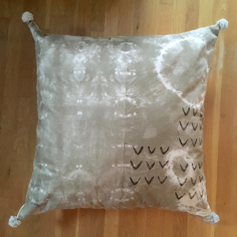Onion Skin Naturally Dyed Meditation Pillow #1