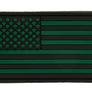 AO PVC Patch US Flag - Black & Green