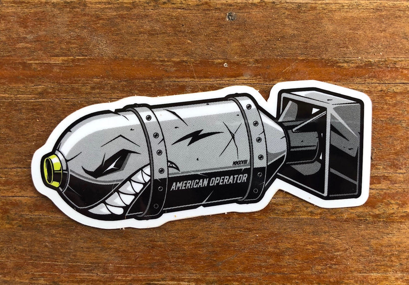 ANGRY BOMB Sticker (Gray)