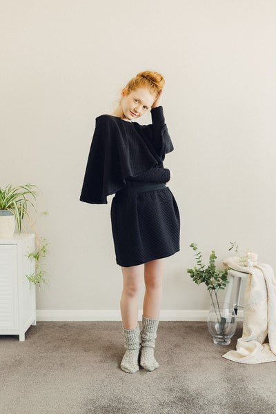 High Places Skirt - Black Grid