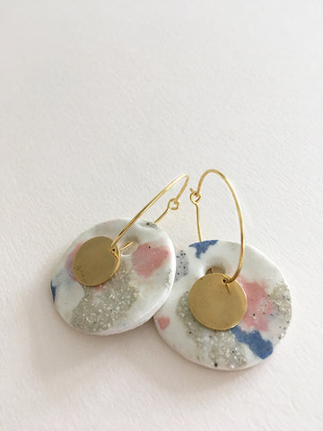 Bunny Disc Earrings
